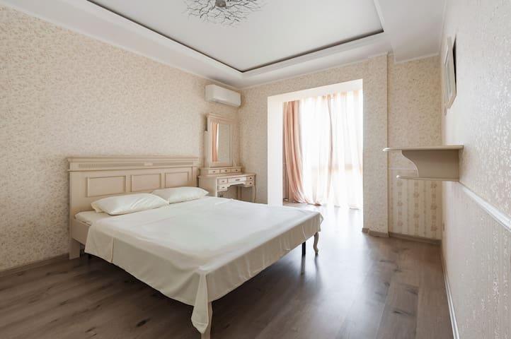 Квартира с панорамной кухней и детской комнатой