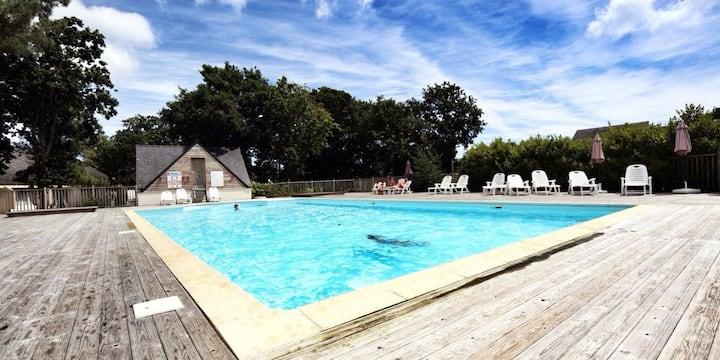 Duplex cosy 4 personnes piscine et plage à pied