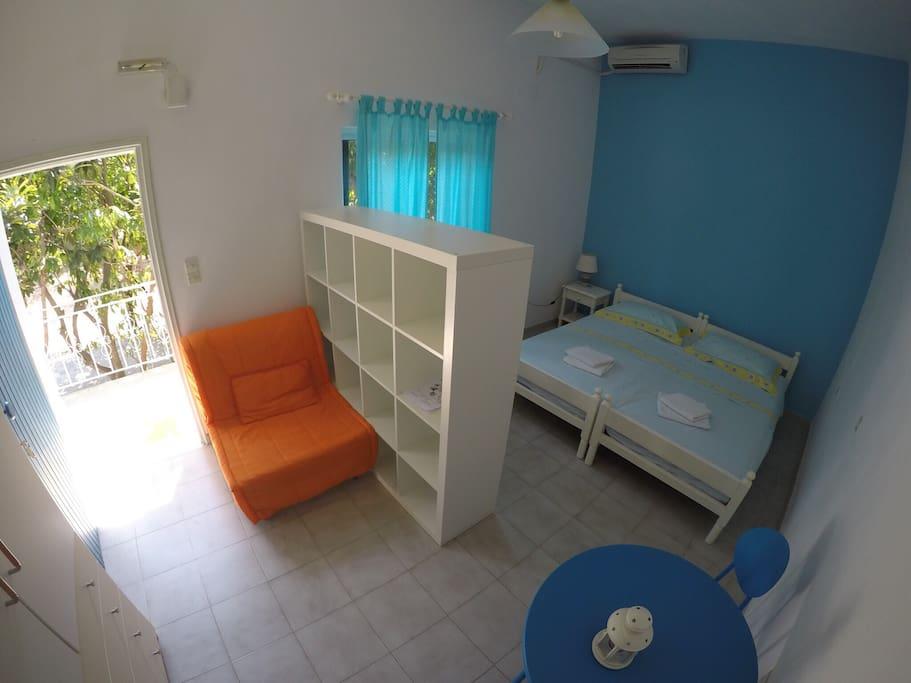 Ampia camera da letto con aria condizionata