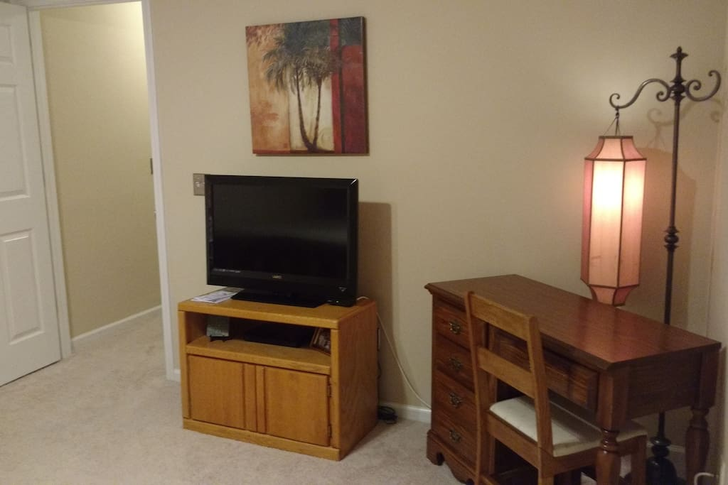 TV and desk in your room