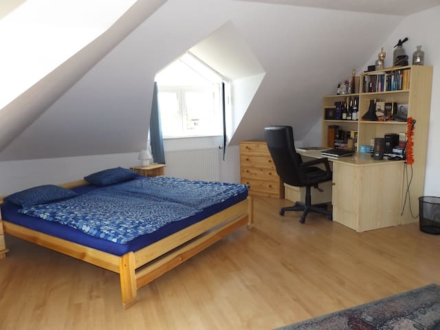 Attic room in a family house.