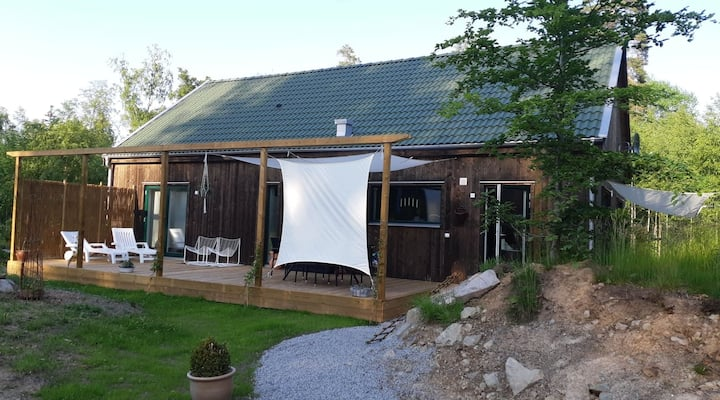 Modern house close to big lake