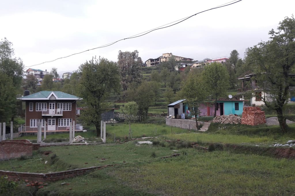 Naddi village open green area