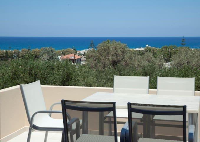 Three Bedrooms Villa - Private pool and Sea View B - Adelianos Kampos - Casa