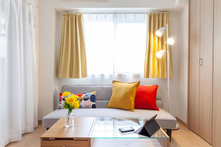 【Colorful】6min Sta. Modern Apt☆FreePocketWIFI#36