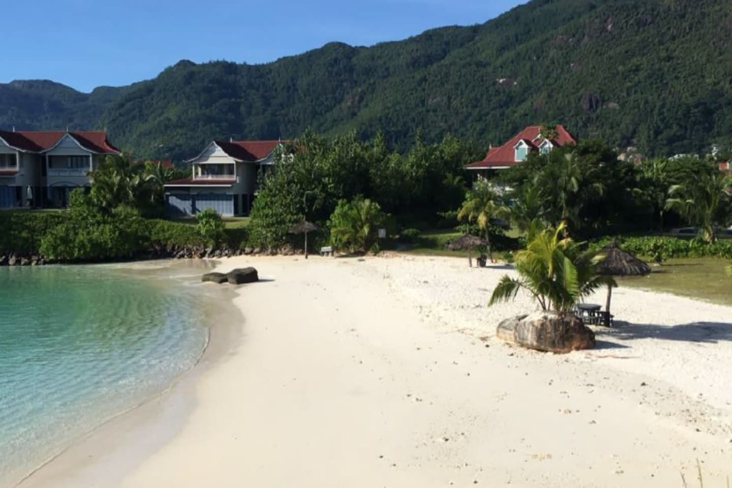 Anse Bernik 50m from my apartment -one of 4 secluded private beaches