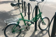 This is my personal bicycle and it can be yours for the entire stay for an extra 15€. It's a great way to get around in the city :) Lock included.