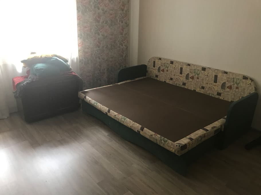 Guestroom with the bed opened