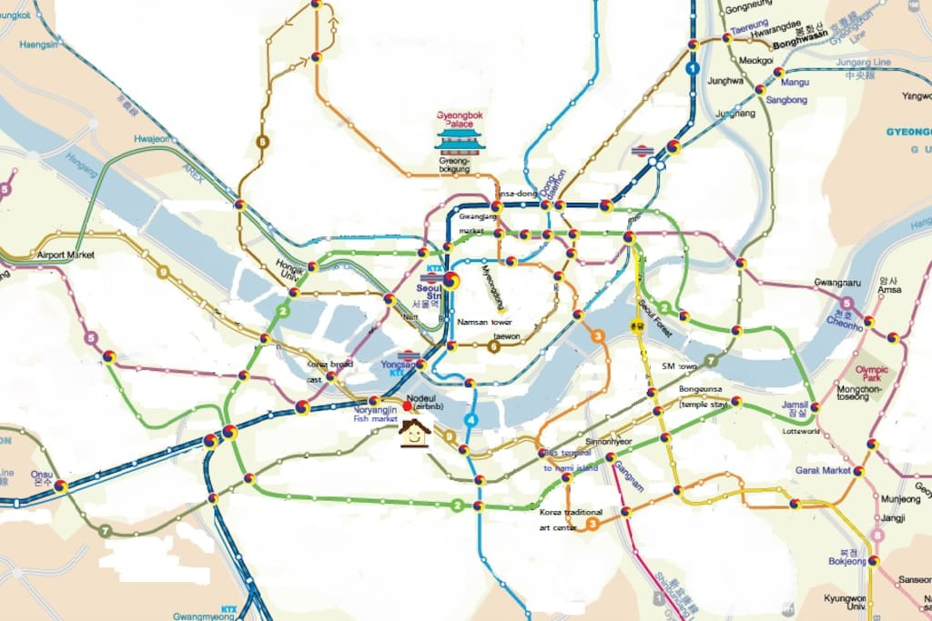 traveling almost everywhere by metro
