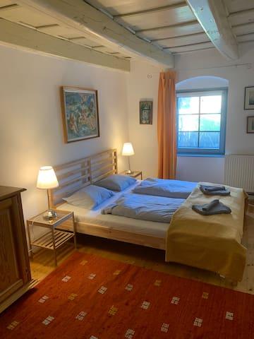 Bedroom (2 ) with double bed -ground floor
