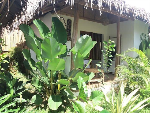 Chambre Confortable et jardin tropical