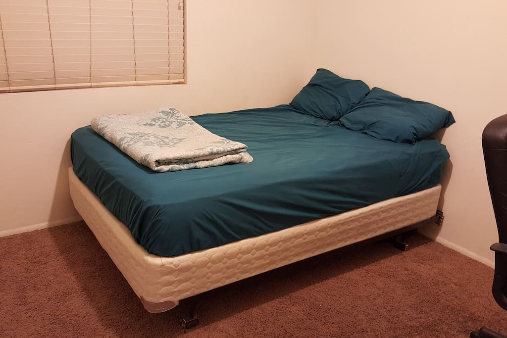 Comfortable bed with as many pillows as needed. If you need your neck to be vertical, we can arrange that.