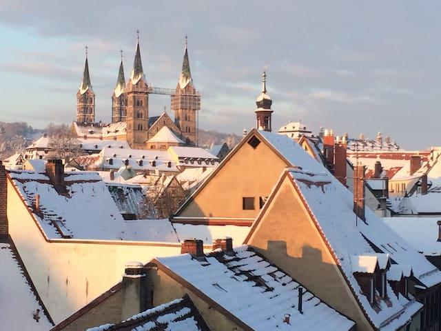 Best View auf Bamberg im Winter