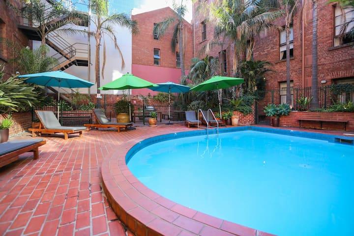 Alfresco pool, near Chinatown and Princess Theatre