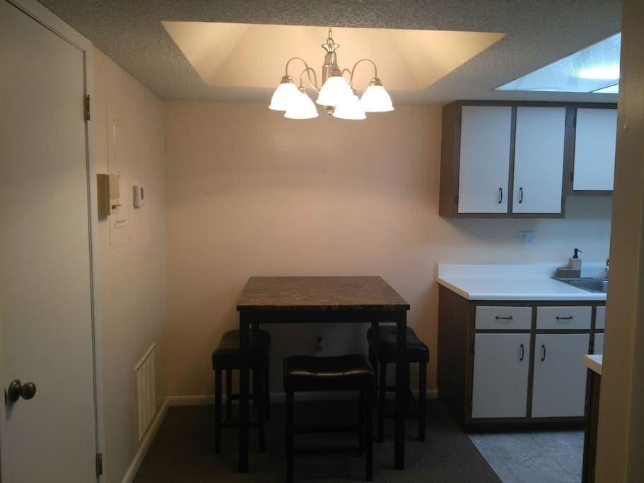 Dining area with kitchenette.