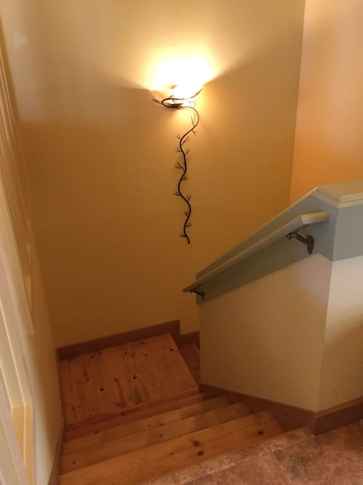 Stairs to apartment!
