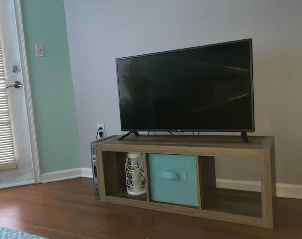 42' LG television with cable including HBO and Internet