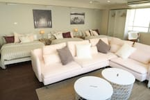 Spacious Living room with sofa and chair