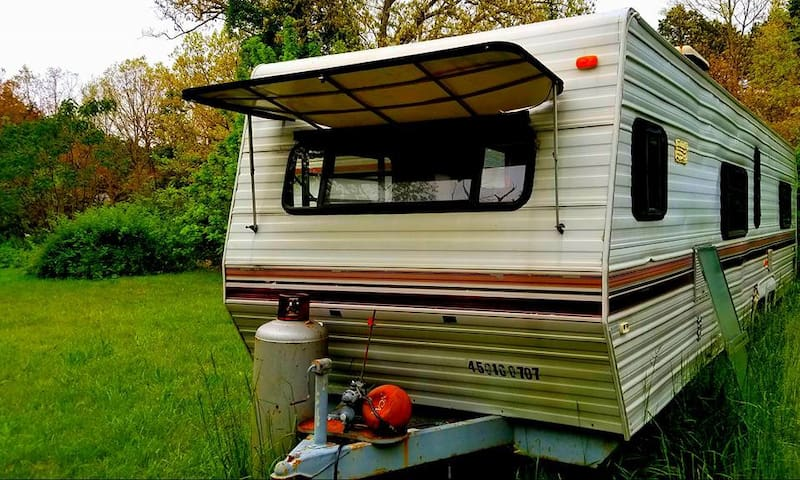 Peculiar Trailer Camp. Get the camping experience.