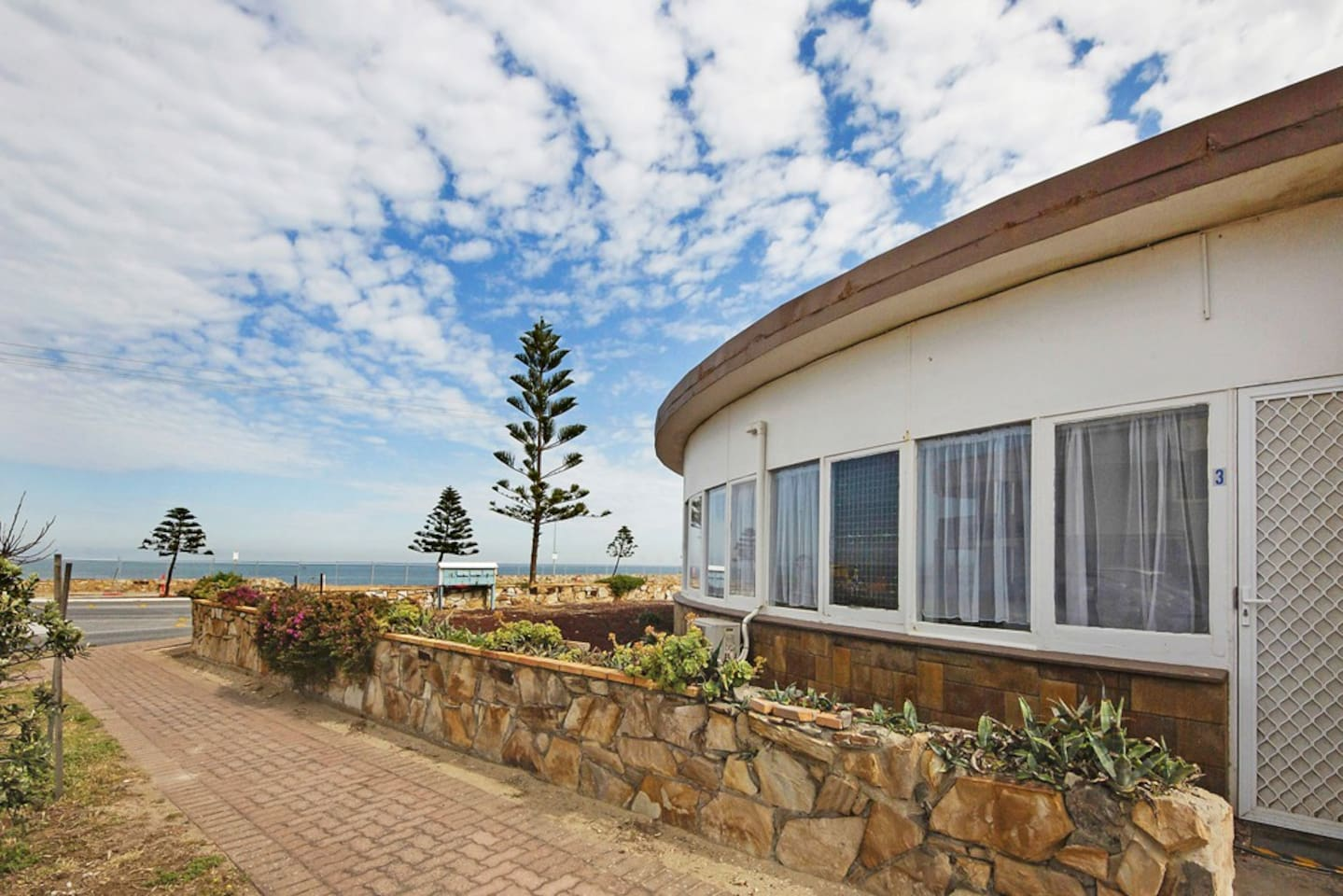 Built in the 50's the pod is weathered... by the sea air. yet very comfortable inside