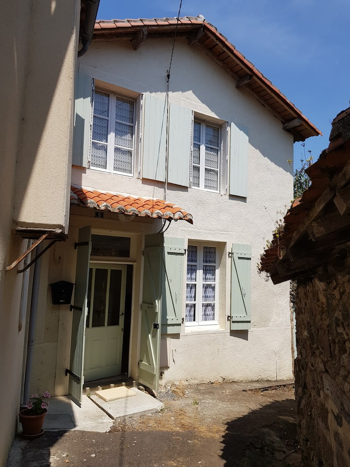 Cottage in pretty medieval town on Vienne river