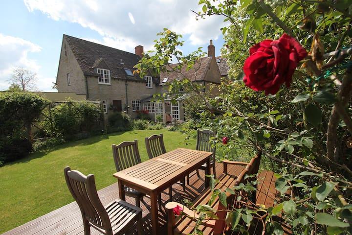Pretty stone cottage in village location.