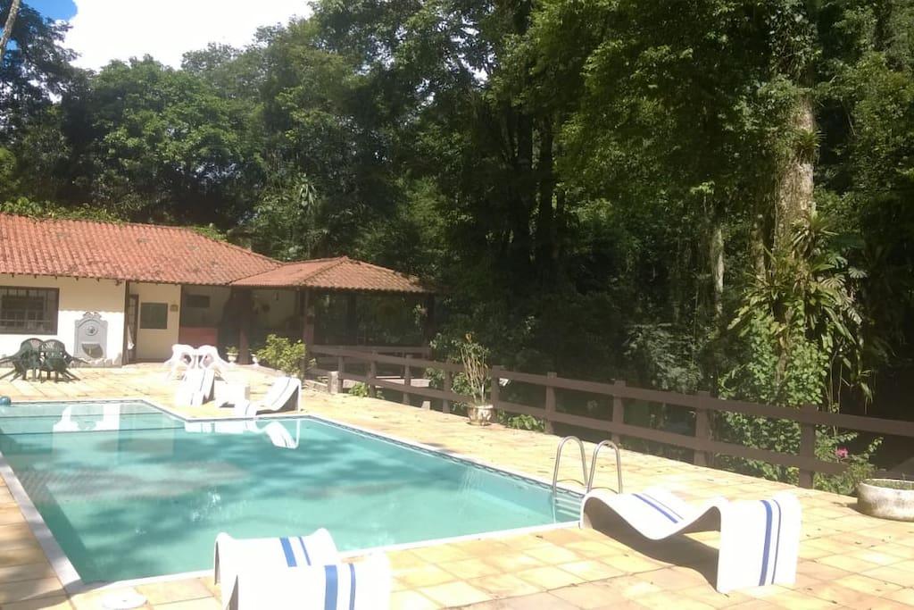 deck da piscina principal