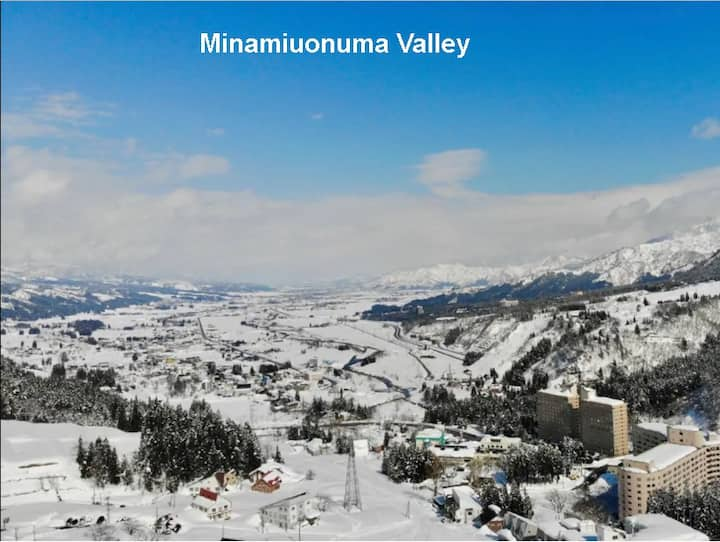 Ski-in-ski-out/4 beds/wifi/onsen/pool