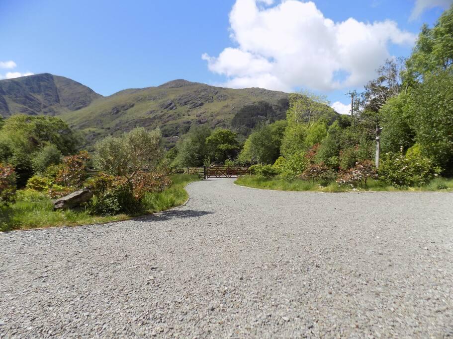 View of mountain behind Glanmore Lake