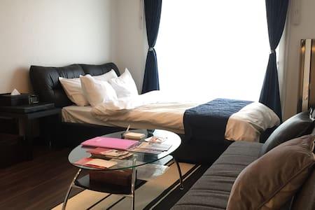 2♪新建的一居室公寓。绝佳的地理位置!无论是商务旅游还是观光都很便利。备有免费Wifi☆ - Naka-ku, Hiroshima-shi - 公寓