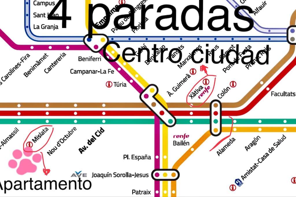 Como llegar Metro Valencia