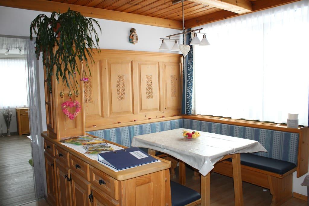 Essecke Küche im Landhausstil