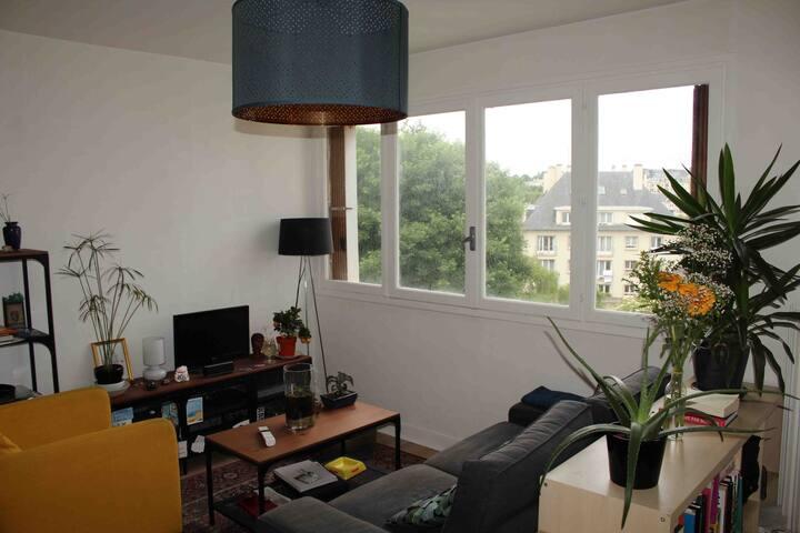 Appartement lumineux au jardin des plantes