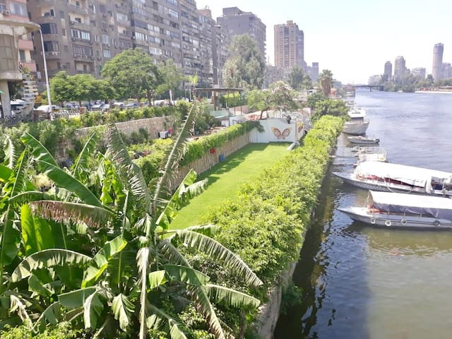 Studio with private marinas on the Nile+ terrace