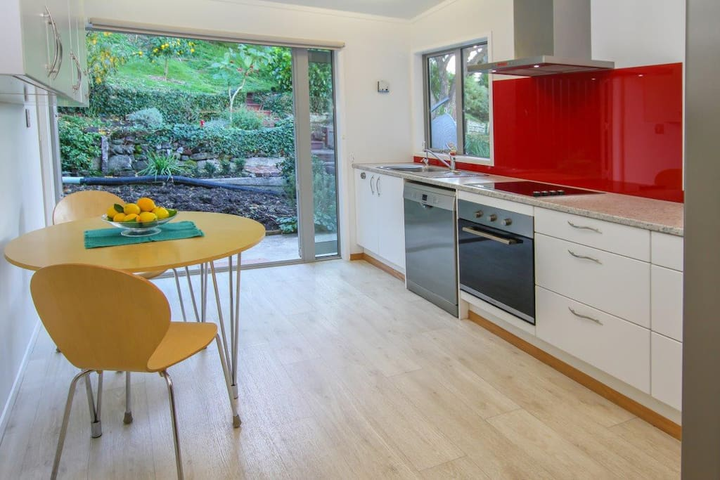 Kitchen looking to garden
