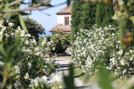 Villa with sea view 5 min from the Adriatic Sea - Campofilone - Apartamento