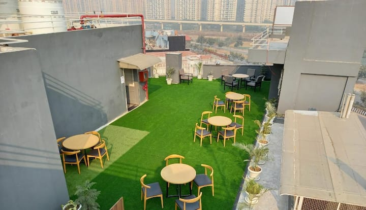 Terrace for party capacity 20 to 50 people.