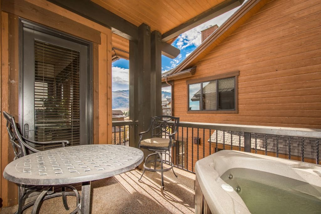 Soak your cares away in the private hot tub out on the patio.