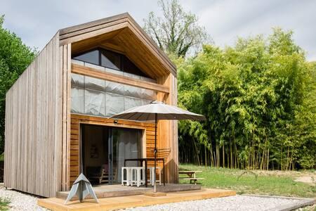Les nids du Chat - Chalet - parc avec bambouseraie