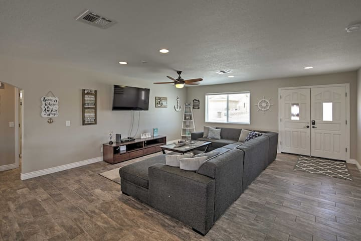 The house features an open floor plan with living rooms on 2 levels.