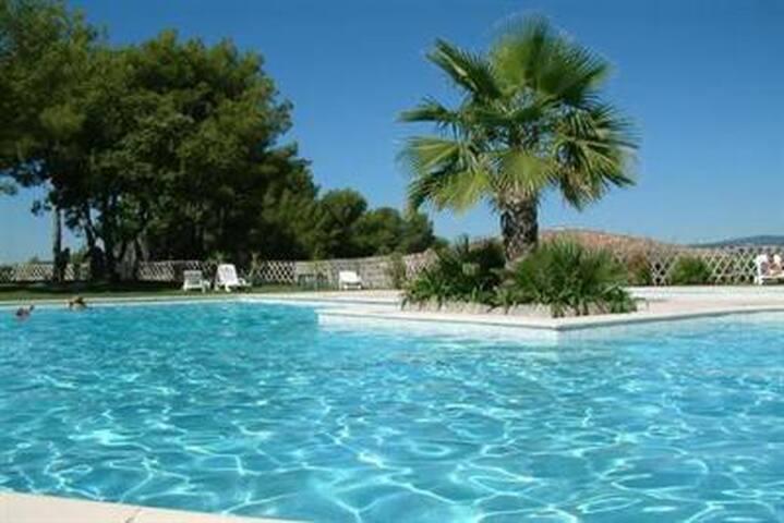 Magnifique grand studio grande terrasse piscine - Biot - Apartemen