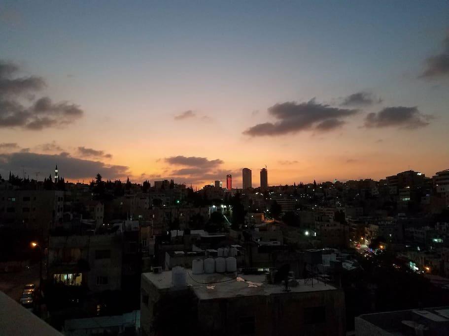 Relaxing Amman sunsets