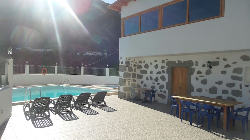 Casa rural con piscina en Risco Blanco . - GC-654 - Huis