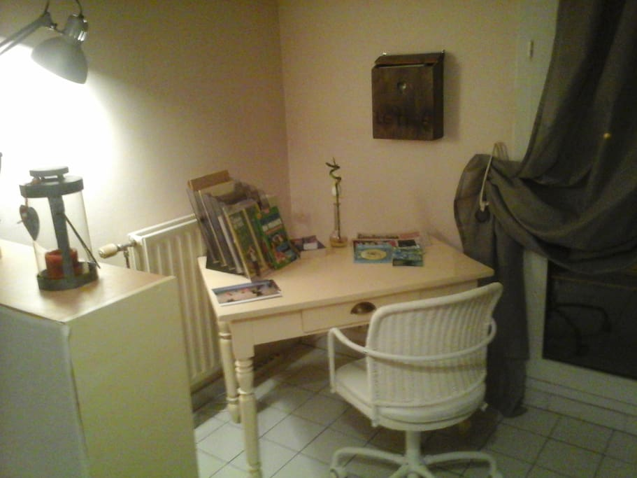 Coin bureau dans la chambre double privative