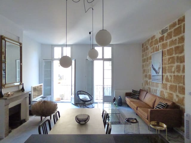 Montpellier: Loft Design, Vintage, refait à neuf.
