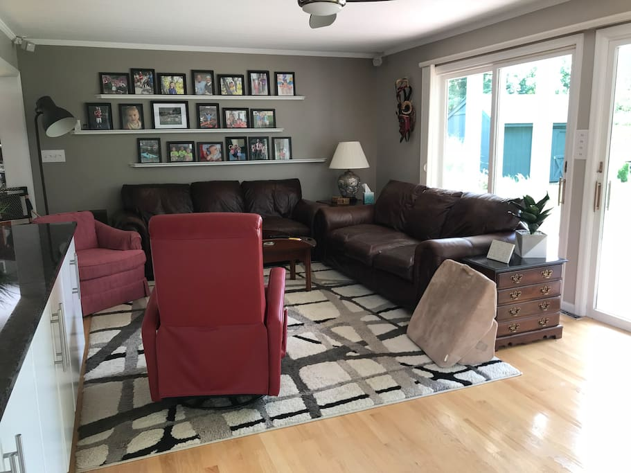 Family room attached to kitchen