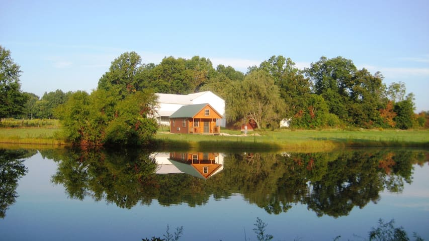 Log Cabin in the Farm Country of Portage County
