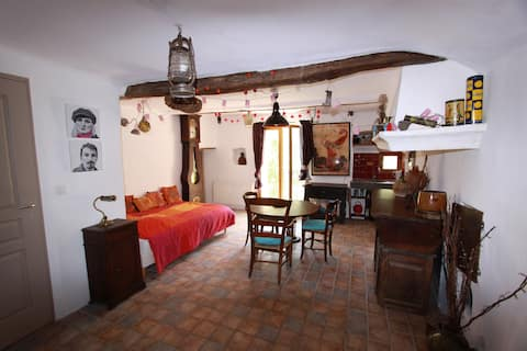 quiet room in medieval village