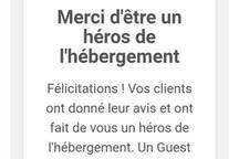 """récompense obtenue le 11 janvier 2018 : """"Guest Review Award 2017"""""""