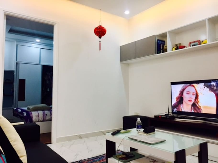 Living Room - Smart television with internet access.